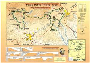 hiking trails map fanie botha trail south africa besthike