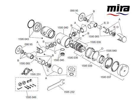 Mira Shower Spare Parts by Mira Discovery Ev Concentric Shower Spares And Parts