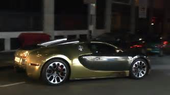 All Gold Bugatti Arab Gold Bugatti Veyron Grand Sport Acceleration In