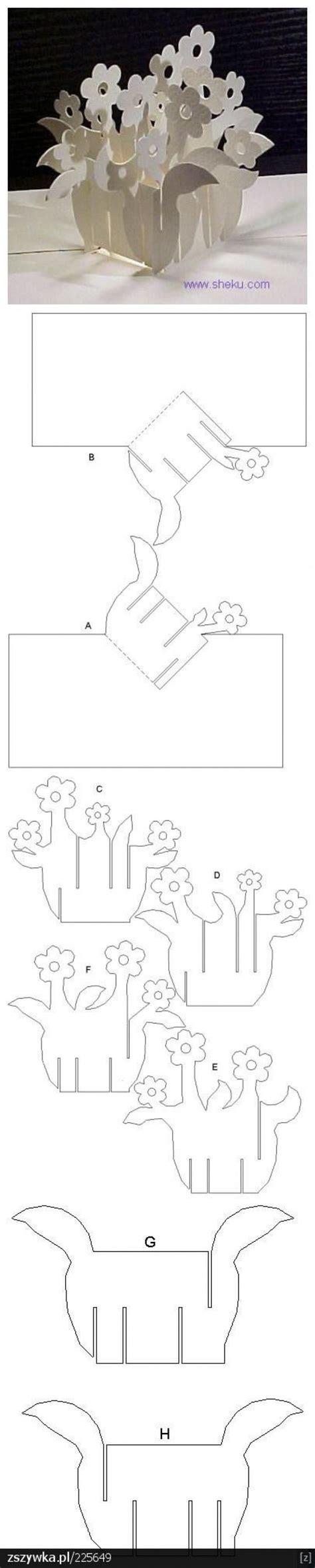 potted flower card templates alternatief voor bloemetje op tafel printables craft