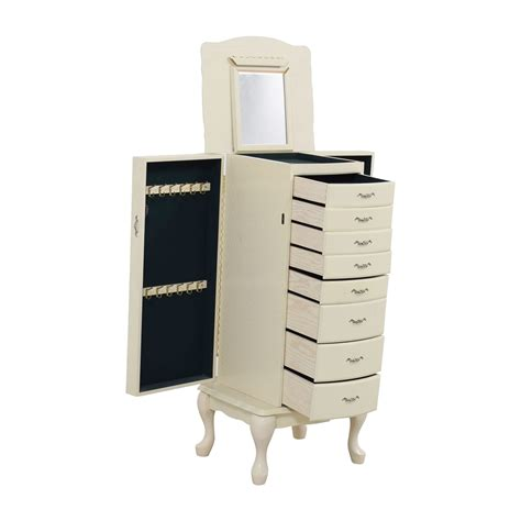 off white jewelry armoire 65 off white vintage jewelry armoire storage