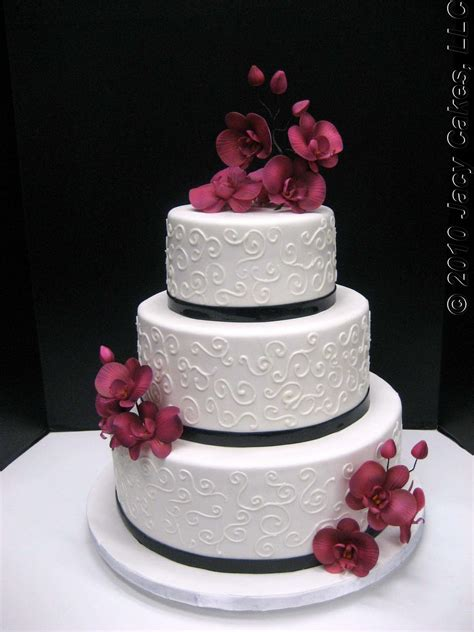Hochzeitstorte Orchidee by News From Jacy Cakes Orchids Swirls Wedding Cake