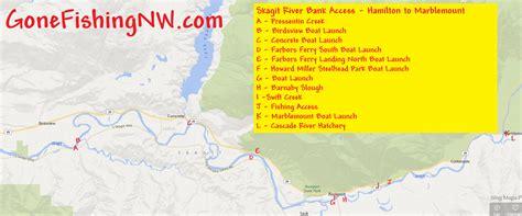 skagit river fishing map pink salmon skagit river bank access hamilton to