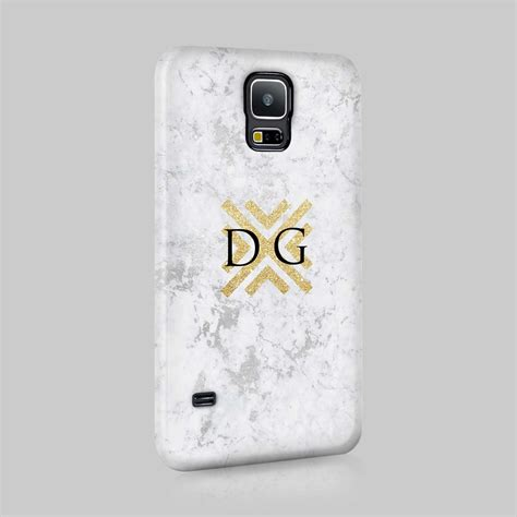 personalised marble glitter gift initials custom phone