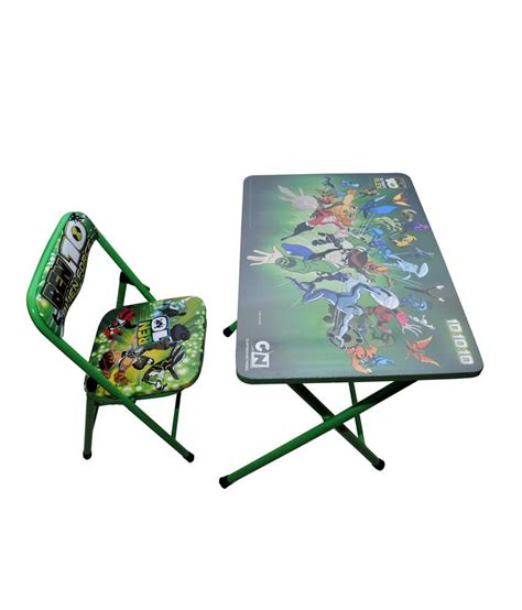 foldable study table and chair happy foldable study table and chair ben 10 green