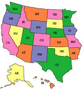 us map w states american forts west us