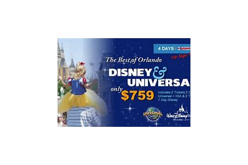 best deals for disney and universal tickets