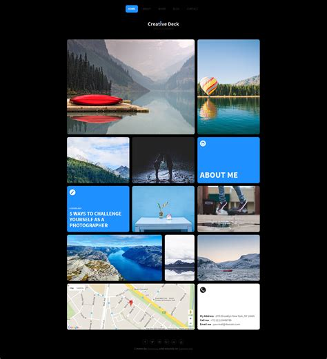 Creative Deck Portfolio Template For Photographers By Themurai Themeforest Creative Deck Template