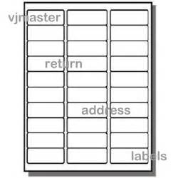 Return Address Labels Template 30 Per Sheet by 15000 Address Labels 30 Labels Per Sheet 500 Sheets Ebay