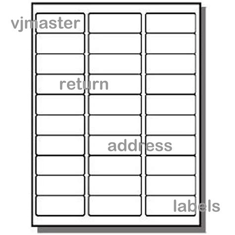 30 Labels Per Sheet Template