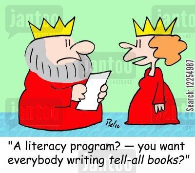 Wants To Write A Tell All by Literacy Program Humor From Jantoo