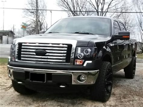 2012 ford f150 light cover ford f150 2009 2014 led drl front bumper cover black