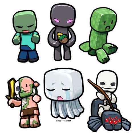 imagenes de minecraft kawaii lil minecraft monsters by ghostfire deviantart com