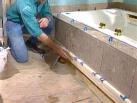 claw foot tub installation surround how to install a marble floor and tub surround how tos diy
