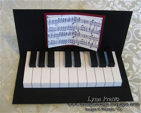Grand Piano Pop Up Card Free Template by St N Design Piano Cards