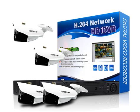 4 channel home high definition cctv package foscam