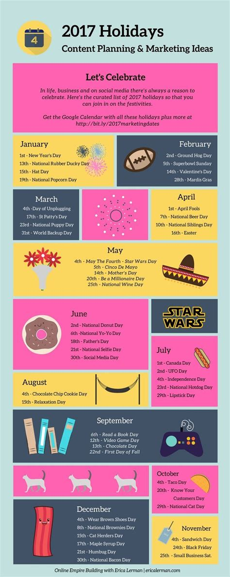 2018 wacky marketing guide your business marketing calendar of ideas books national calendar 2017 printable calendar 2018