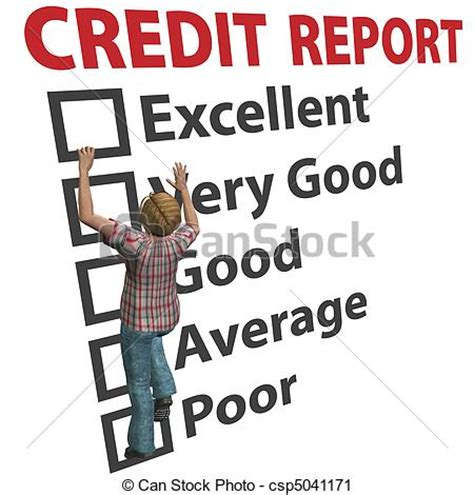 doodle free credit report clipart of builds up credit report score rating a