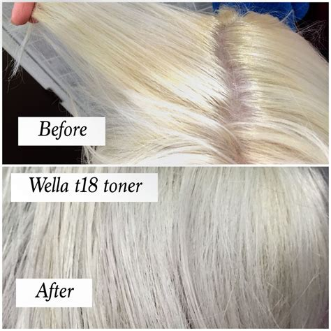 wella color charm toner t18 before and after using t18 wella toner on hair how