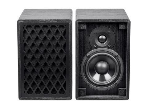 monoprice retro bookshelf speakers 4 inch 2 way black