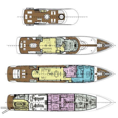 Yacht Floor Plan | yacht floorplans 171 floor plans