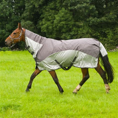 pony turnout rugs pony lightweight waterproof turnout fly rug fixed neck 2 in 1 mesh cover ebay