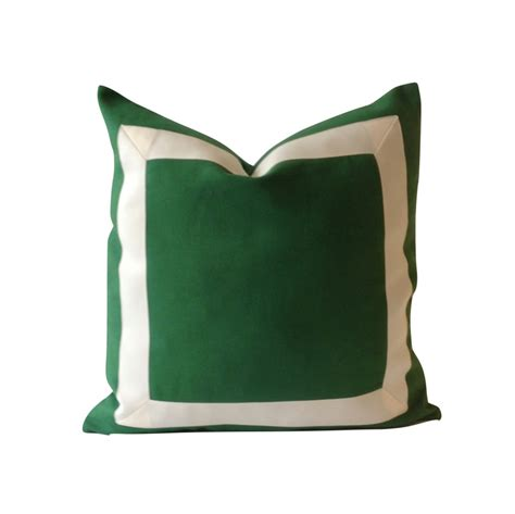 Green Throw Pillow Covers by Decorative Pillow Cover Green Cotton Canvas With