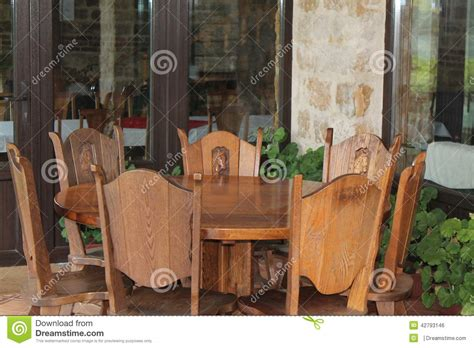Front Porch Table And Chairs Table And Chairs On Front Porch Stock Photo Image