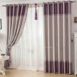 simple pattern grey and purple thermal curtains