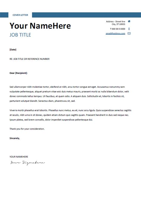 Letter Docx Montjuic Clean And Simple Resume Template