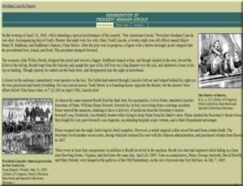 lincoln assassination timeline journey two the white house years