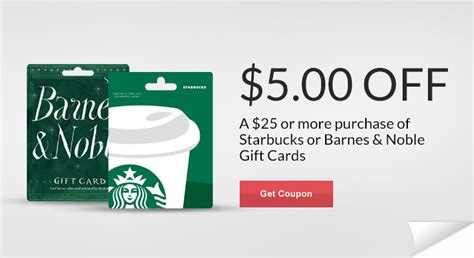 Gift Cards Rite Aid - rite aid 5 off starbucks barnes noble gift card purchase
