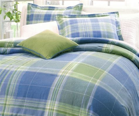 4pc sky blue apple green airy check plaid 100 cotton