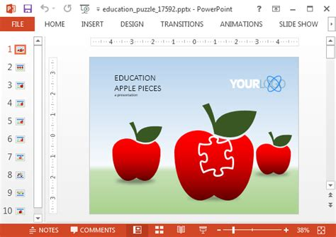 Animated Education Puzzle Powerpoint Template Powerpoint Templates For Mac Education