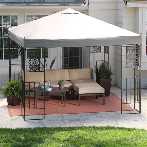 10 X10 Steel Frame Gazebo Sun Shade Canopy Outdoor Patio Patio Gazebo 10 X 10