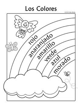 printable christmas coloring pages in spanish los colores spanish colors rainbow coloring page by miss
