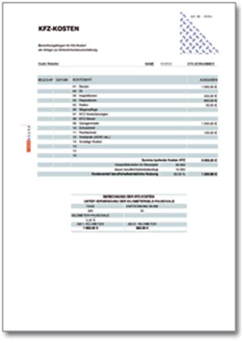 Kfz Versicherung Kosten Ungefähr by Rechentabelle Werbungskosten Berufliches Kraftfahrzeug