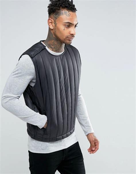 Asos Vest In Black asos asos quilted vest in black