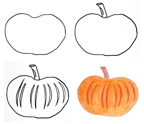 draw a pumpkin for how to draw pumpkins