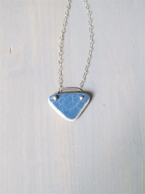 sterling and blue aromatherapy necklace lews jewelry
