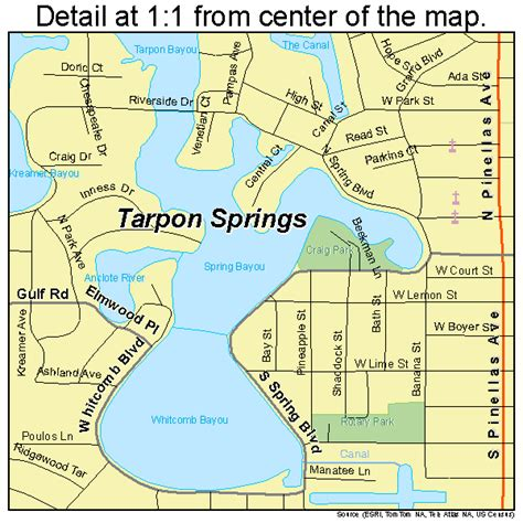 florida springs map tarpon springs fl 1271150 gif images frompo