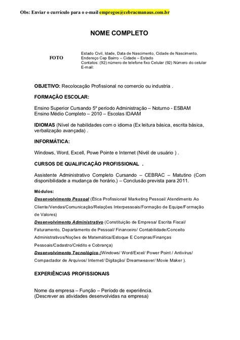 Modelo De Curriculum Vitae De Alguien Experiencia Modelo Curriculo Experi 234 Ncia