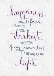 Quotation Wall Stickers quot happiness can be found even in the darkest of times