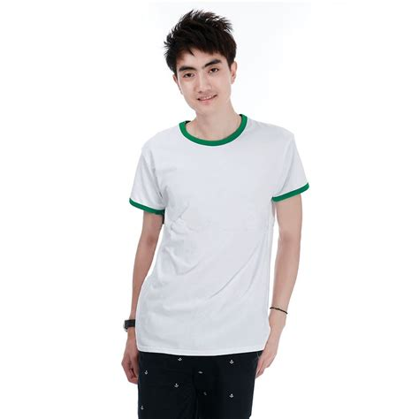 Pakaian Kaos Pria Oneck kaos polos katun pria o neck size m 86202 t shirt green jakartanotebook