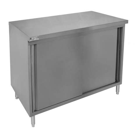stainless steel work table enclosed base cabinet restaurant quality enclosed stainless steel base tables