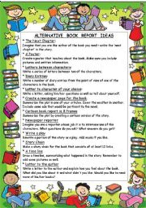alternative book report ideas teaching worksheets book report