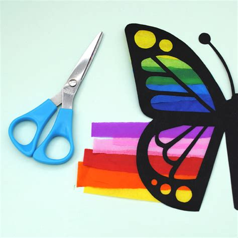 Construction Paper Butterfly Craft - it s friday