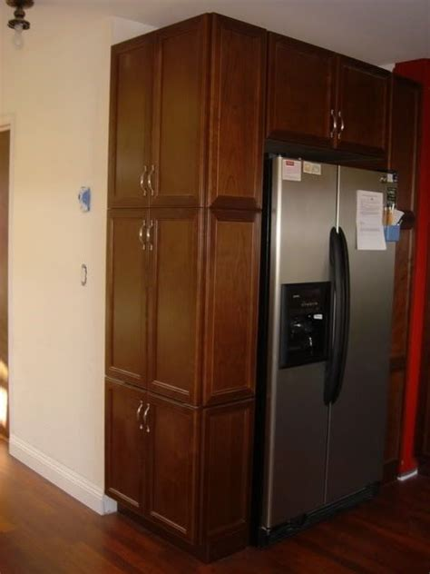 fridge cabinet surround side cabinets pantry cabinet