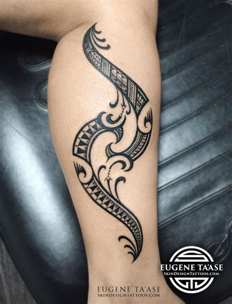 eugene ta ase polynesian artist at skin design tatoo