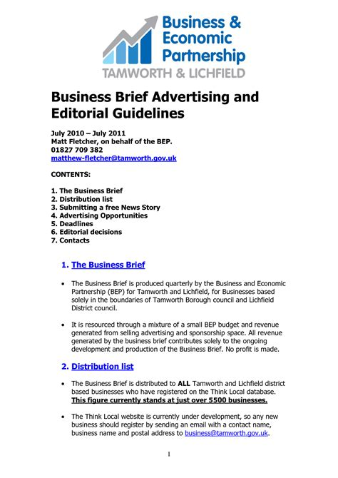 Business Brief Briefformat Best Photos Of Anders Brief Exle Project Brief Template Manager Resume Exles And